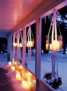 Hanging candles.
