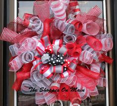 University of Alabama Mesh Wreath