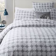 Chalk Dottie Duvet + Shams