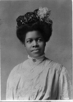 "Educator and suffrage activist Nannie Helen Burroughs 1909. In 1896  helped form the National Association of Colored Women (NACW) to promote political mobilization of Black women and in 1909 founded the National Training School for Women and Girls (later named the Nannie Helen Burroughs School) to prepare students for employment and entrepreneurship. She first gained national recognition in her speech ""How the Sisters Are Hindered from Helping,"" at the National Baptist Convention in 1900. http:/"