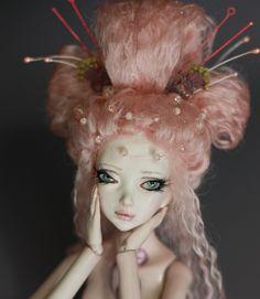Geisha Japanese Porcelain BJD Ball Jointed Dolls by Aidamaris Roman