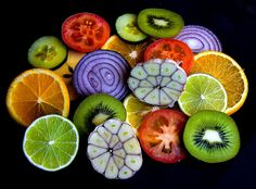 patterns and colors of Mother Nature - food is truly beautiful :) Would make an awesome tangle pic!