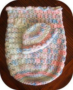 Crochet baby cocoon set newborn cocoon handmade by YanasKnitting, $62.00