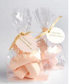 Marshmallow Wedding Favours. Read More - http://onefabday.com/marshmallow-wedding-ideas/