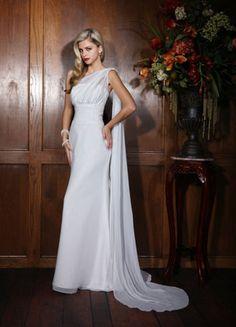 One-shoulder wedding dress - Impression Bridal Casual Wedding Dresses lace wedding gowns, wedding dressses, bridesmaid dresses, weddings, dress wedding, one shoulder, wedding dress styles, impress destini, bride dress