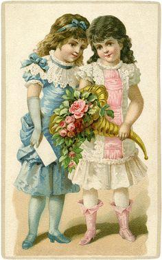 Fancy Little Victorian Girls