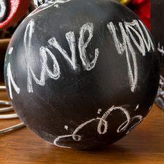 Reindeer Chalkboard Ball Ornament | FaveCrafts.com