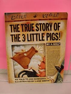 "Place value activities to do with ""The True Story of the 3 Little Pigs"". I would have never thought to use this book to teach place value."