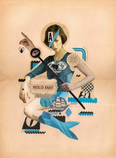 poster collage, holdfast, art, hold fast, collages, collag inspir, cut, design stuff