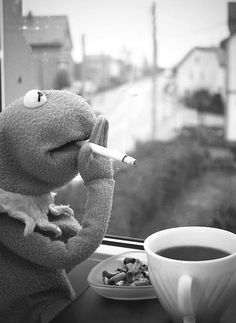 Muppets used to smoke and were at times sponsored by the Philip Morris tobacco company.