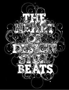 beats, graphic design, heart, si scott, siscott