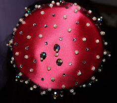 1950's Mr. John Vintage Pillbox Hat Raspberry by CulturePalette, $159.00
