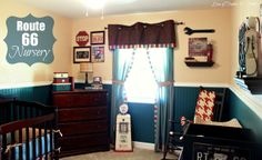 Route 66 Nursery & Gallery Wall..... - Love of Family & Home  I really like the color scheme