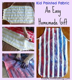 Kid Painted Fabric- An Easy Homemade Gift idea!