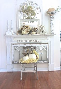 Junk Chic Cottage: White Neutral Fall Decor