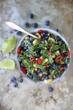 Blueberry, Corn and Basil Salsa // Heather Christo