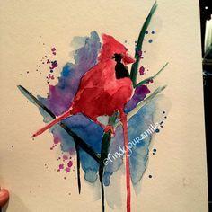cardinal watercolor tattoo - Google Search