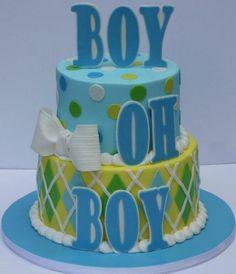 #Boy, oh boy! A charming #babyshower cake