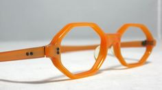 vintage orange glasses frames