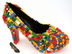 A pair of stilettos with the use of Lego...amazing!