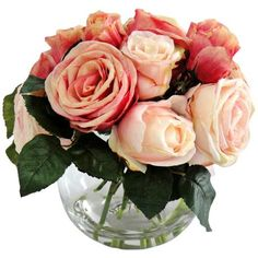 What girl doesn't want roses for Valentine's day - especially roses that will last forever? So sweet! Available at http://www.lampsplus.com/products/jane-seymour-12-inch-high-peach-roses-in-glass-bubble-bowl__v3006.html