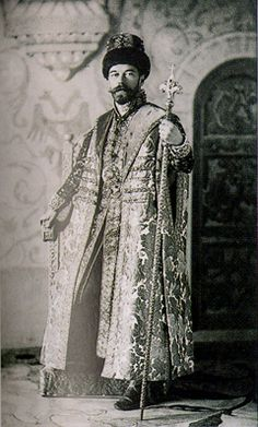 Tsar Nicholas II, dressed as Tsar Alexei at the 1903 Winter Palace ball.