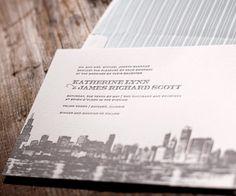 Charmed Chicago Letterpress Invitation by Bella Figura