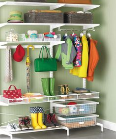 """Organize your mudroom or entryway into four functional zones to say """"so long"""" to entryway clutter...for good!"""