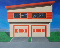 "Saatchi Online Artist: Indrajeet Chandrachud; Acrylic, 2011, Painting ""House of Orange"" #art #orange"