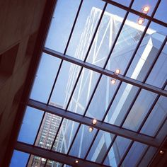 Looking up at Hearst Tower, from inside Hearst Tower    (Instagram photo by @raffaelpaluzzi)