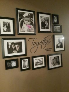 Picture wall on a blank wall in the living room (: