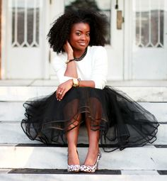 Love this black tulle skirt!