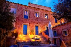 Casa Teulada at night - Insider Secrets from idyllic Sardinia   #travel #tips