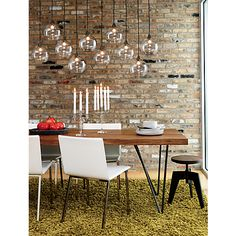 In the dining room - firefly pendant lamp in pendant lamps | CB2