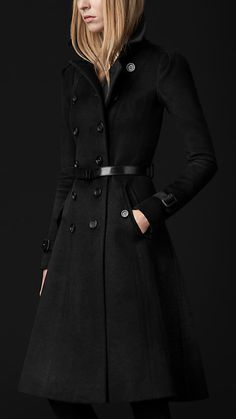 Burberry Prorsum Wool Cashmere Trench Coat