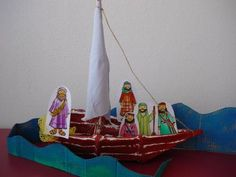 Jesus in a boat, storm, Bible