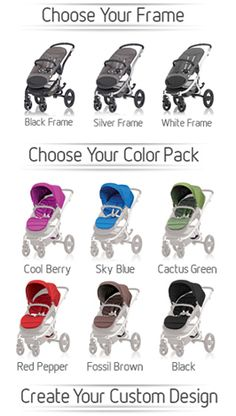 Affinity Stroller by Britax – Choose your frame and color pack to create a custom stroller #baby #style