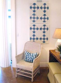 Great I idea for old quilts or scraps of unfinished quilts.