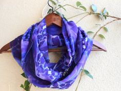 Purple lilac Infinity scarf, Circle Scarf, Loop Scarf, Scarves, Spring-Fall-Winter-Summer Fashion, Women's Fashion, Purple lilac scarf