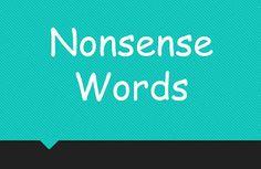FREEBIE Nonsense Words Powerpoint for fluency!
