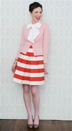 light pink and orange