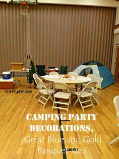 campfire party decor