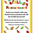 Simple yet effective! Measurement for Fall! is an easy, thematic printable designed to enhance measurement skills in whole groups, partnered activi...
