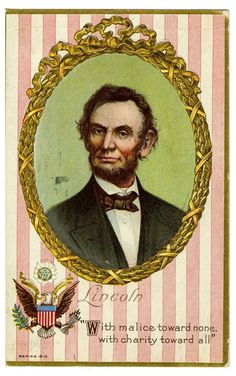 Color postcard of Abraham Lincoln