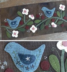 Spring Bird Table Runner