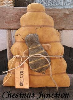 Beeskep and Bee epattern primitive doll craft by chestnutjunction, $3.99