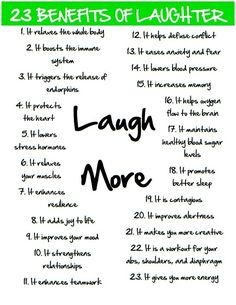 23 Benefits of #Laughter