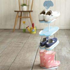 Kid's Shoe Rack! #organize #cute #shoes #storage #kids #home #design #closet