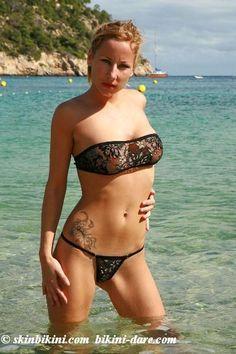 http://www.skinbikini.com/floral_metallic_micro_bikini/micro-bikini-bandeau-top-metallic-black.html #skinbikini