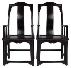Pair of 19th century Asian highback chairs - $1875.